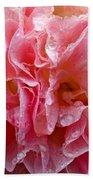 Wet Hollyhock Flower Upclose Bath Towel