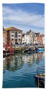 Weymouth Harbour Bath Towel