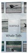 Whale Tails Bath Towel