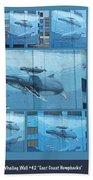 Whaling Wall 42 -  East Coast Humpbacks - Original Painting By Wyland Bath Towel