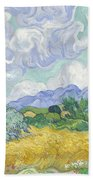 Wheatfield With Cypresses Hand Towel