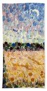 Wheatfields At Dusk Bath Towel