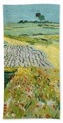 Wheatfields Near Auvers-sur-oise Bath Towel