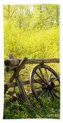 Wheel On Fence Hand Towel