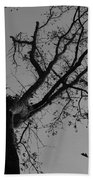 Silhouette Trees Bath Towel