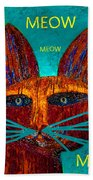 Whiskers Meowing Bath Towel