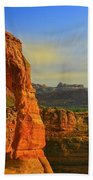 Whispy Clouds Over Delicate Arch Bath Towel