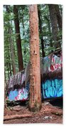 Whistler Train Wreckage In The Trees Bath Towel