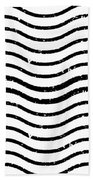 White And Black Postage Bath Towel