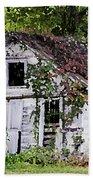 White Barn In Autumn Bath Towel