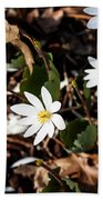 White Bloodroot Bath Towel