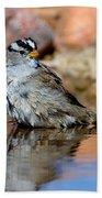 White-crowned Sparrow Bathing Bath Towel