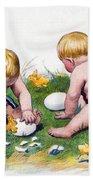 White Eggs Bath Towel