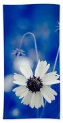 White Flower Bath Towel
