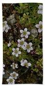 White Flowers And Moss Bath Towel