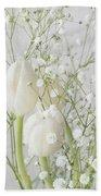 White Flowers Pii Bath Towel