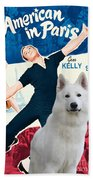 White German Shepherd Art Canvas Print - An American In Paris Movie Poster Bath Towel