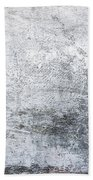 White Grungy Cement Wall Bath Towel
