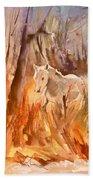 White Horse In The Camargue 01 Bath Towel