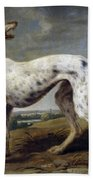 White Hound Bath Towel