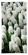 White Hyacinths Bath Towel