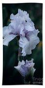 White Iris Bath Towel