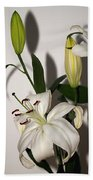 White Lily Spray Bath Towel