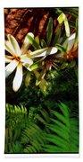 White Maui Flowers Hand Towel