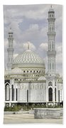 White Mosque Hand Towel