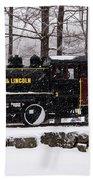 White Mountains Railroad And Train Bath Towel