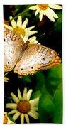White Peacock Butterfly I I I Bath Towel