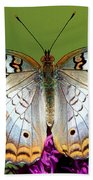 White Peacock Butterfly Bath Towel