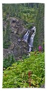 White Pearl Waterfall Vert Bath Towel