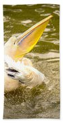 White Pelican Bath Towel