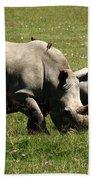 White Rhinoceros Hand Towel
