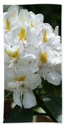White Rhododendron Bath Towel