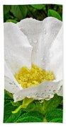 White Rose At Norris Point In Gros Morne National Park-newfoundland  Bath Towel