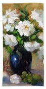 White Rose Elegance Bath Towel