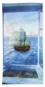 White Sails Bath Towel
