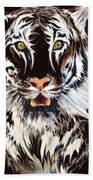 White Tiger 1 Bath Towel