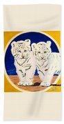 White Tiger Twins Bath Towel