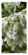 White Veil Of Tropical Flowers Bath Towel
