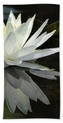 White Water Lily Reflections Bath Towel