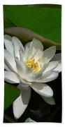 White Waterlily Lotus Bath Towel