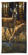 Whitetail Deer - Autumn Innocence 1 Bath Sheet