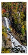 Whitewater Falls With Rainbow Bath Towel