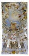 Wieskirche Organ And Ceiling Bath Towel