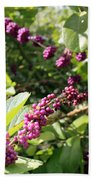 Wild Beautyberry Bush Bath Towel
