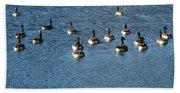 Wild Birds And Pond Bath Towel