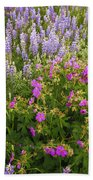 Wild Flowers Display Bath Towel